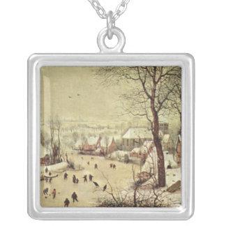 Paisaje con una trampa del pájaro - 1565 del collar plateado