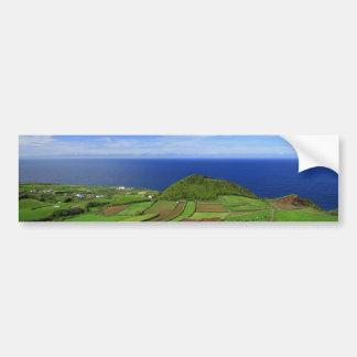 Paisaje costero de Azores Pegatina Para Auto