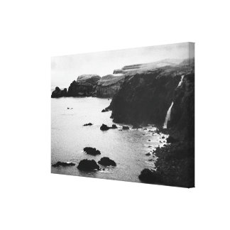 Paisaje costero de Azores Impresión En Tela