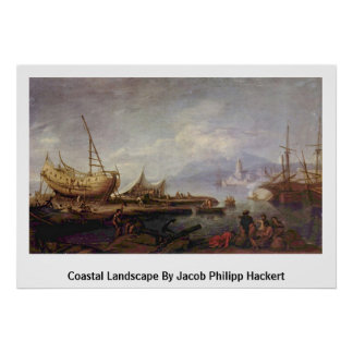 Paisaje costero de Jacob Philipp Hackert Impresiones