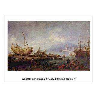 Paisaje costero de Jacob Philipp Hackert Tarjeta Postal