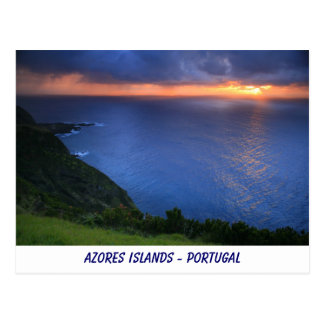 Paisaje costero tarjetas postales