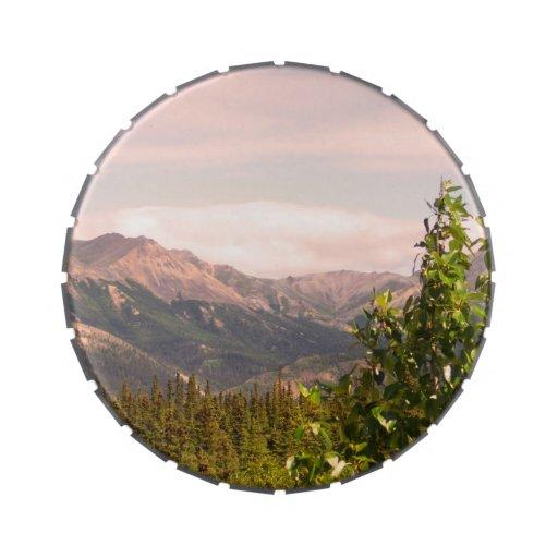 Paisaje de Alaska Latas De Caramelos