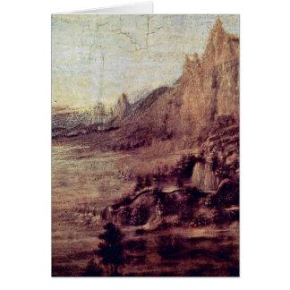 Paisaje de Andrea del Verrocchio Tarjeta De Felicitación