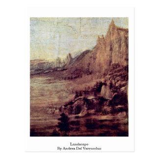 Paisaje de Andrea del Verrocchio Tarjetas Postales