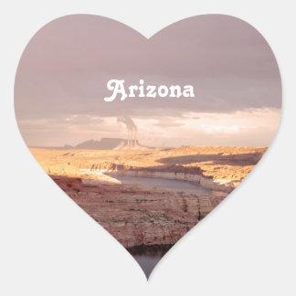 Paisaje de Arizona Calcomanías Corazones