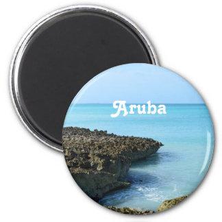 Paisaje de Aruba Imán Redondo 5 Cm