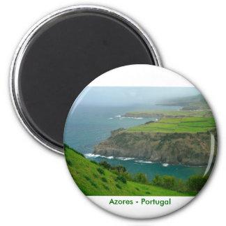 Paisaje de Azores Imán Redondo 5 Cm