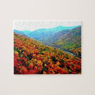 Paisaje de Blue Ridge Mountains Puzzle