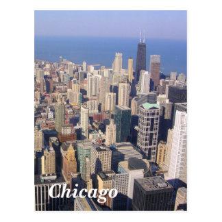 Paisaje de Chicago Tarjeta Postal