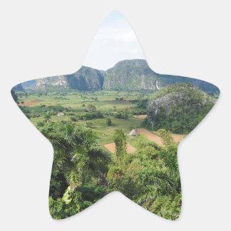 Paisaje de Cuba Calcomanía Forma De Estrella