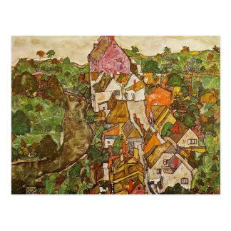 Paisaje de Egon Schiele- en Krumau Postales