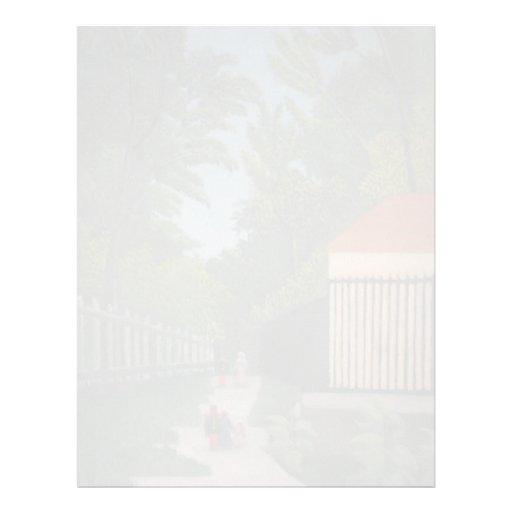 Paisaje de Enrique Rousseau- en el parque de Monts Membrete