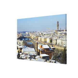 Paisaje de Florencia de Piazzale 2 Lona Envuelta Para Galerías