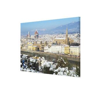 Paisaje de Florencia de Piazzale Impresión En Tela