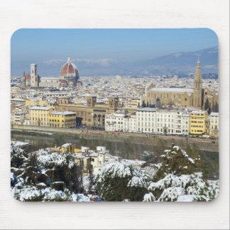 Paisaje de Florencia de Piazzale Mousepads