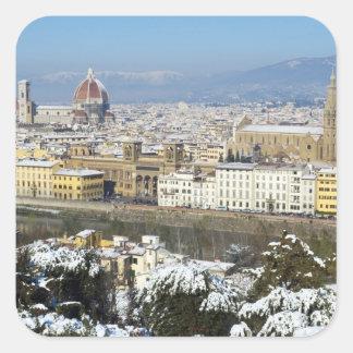 Paisaje de Florencia de Piazzale Pegatina Cuadradas Personalizada