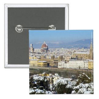 Paisaje de Florencia de Piazzale Pin Cuadrado