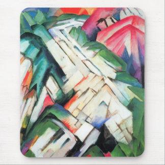 Paisaje de Franz Marc, cubismo de las montañas del Alfombrilla De Ratones