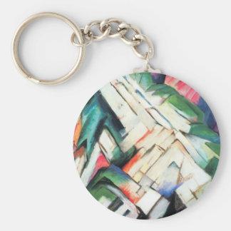 Paisaje de Franz Marc, cubismo de las montañas del Llavero Redondo Tipo Pin
