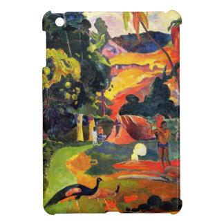 Paisaje de Gauguin con caso del iPad de los pavos  iPad Mini Funda