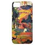 Paisaje de Gauguin con el caso del iPhone 5 de los Funda Para iPhone 5 Barely There