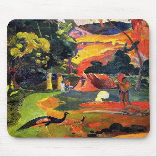 Paisaje de Gauguin con el cojín de ratón de los pa Tapete De Raton