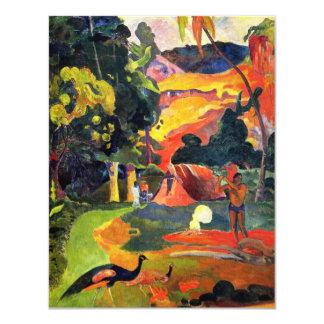 Paisaje de Gauguin con las invitaciones de los Invitación 10,8 X 13,9 Cm