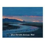 Paisaje de Great Salt Lake, Utah Postal