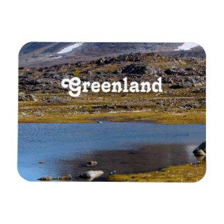 Paisaje de Groenlandia Imán Flexible