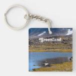 Paisaje de Groenlandia Llavero
