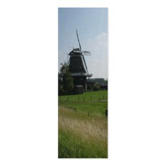 Paisaje de Holanda con la señal de la foto del mol Plantilla De Tarjeta De Visita