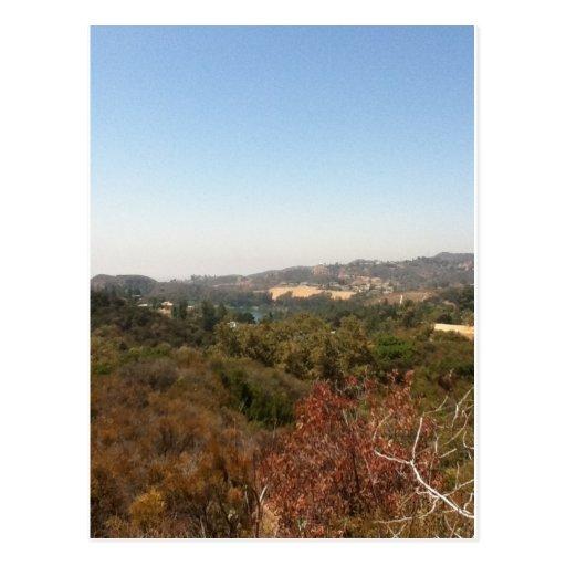 paisaje de hollywood postales