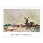 Paisaje de Johan Barthold Jongkind Postal