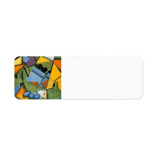 Paisaje de Juan Gris- con la casa en Ceret Etiqueta De Remite