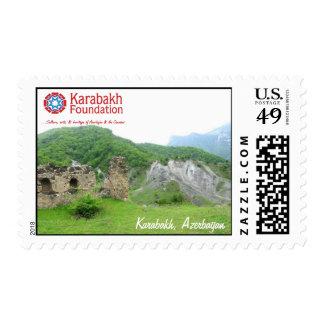 Paisaje de Karabakh, sello de Azerbaijan