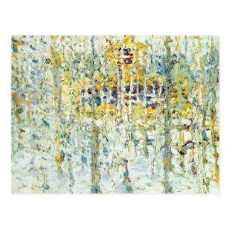 Paisaje de Kazimir Malevich- con la casa amarilla Tarjeta Postal