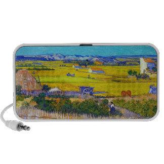 Paisaje de la cosecha con el carro azul Vincent va iPhone Altavoz