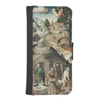 Paisaje de la explotación minera, 1521 fundas billetera de iPhone 5