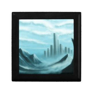 paisaje de la fantasía del iceworld caja de joyas