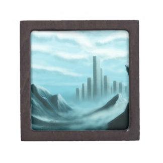 paisaje de la fantasía del iceworld caja de recuerdo de calidad