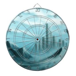 paisaje de la fantasía del iceworld tablero de dardos