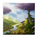 paisaje de la fantasía del paraíso azulejo ceramica