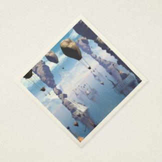 Paisaje de la fantasía servilletas de papel