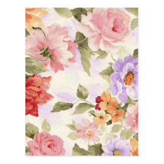 Paisaje de la flor del vintage tarjetas postales