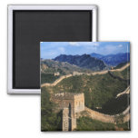 Paisaje de la Gran Muralla, Jinshanling, China Imán Cuadrado