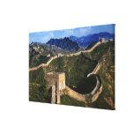 Paisaje de la Gran Muralla, Jinshanling, China Impresión En Lienzo Estirada
