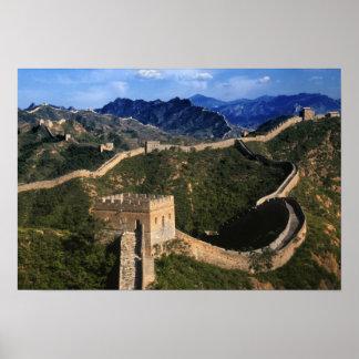 Paisaje de la Gran Muralla, Jinshanling, China Poster