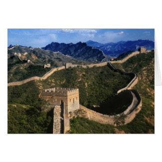 Paisaje de la Gran Muralla, Jinshanling, China Tarjeta De Felicitación