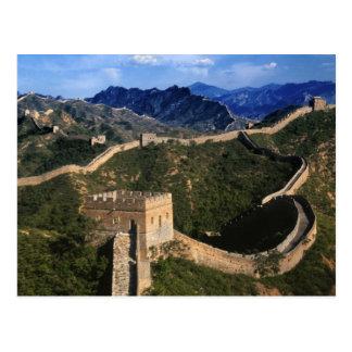 Paisaje de la Gran Muralla, Jinshanling, China Tarjeta Postal
